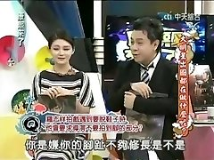 Asian actress in a broadcast opening up toes