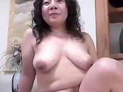 Japonský škaredé BBW Zrelé Creampie Junko poistka 46years