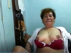 Elen Valdez mature Pinay from Manila flashing on Skype