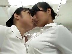 japanese catfight Nurse stocking struggle Battle