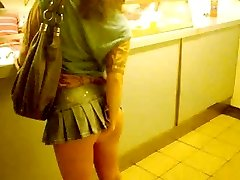 Pinkfluff  No G-strings Upskirt In Chinese Takeaway