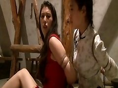 Asian maids roped up