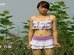 Asian TV game show nip slips