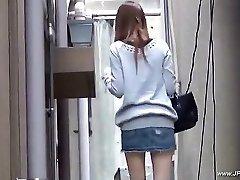 Oriental women visit restroom.18