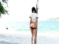 Impressive Glamour clip with Beach,Straight scenes