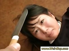 Japanese maids get humiliated and treated like poop in this clip