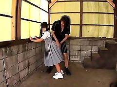 Japanese teenager giving a hot blowjob Maid