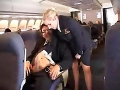 american stewardess hand job part 1