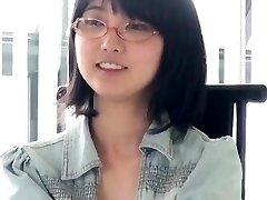 Japanese Glasses Damsel Blowjob