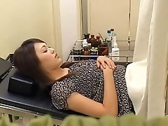 Adorable hairy Asian broad gets fucked by her gynecologist