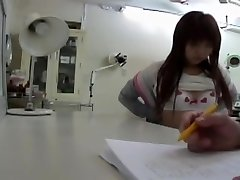 Doctor.s vibrator made this Japanese babe get an ejaculation