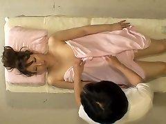 Kinky Jap broad takes man meat in hidden cam massage room video