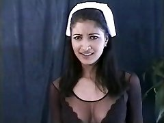 Indian nurse in act