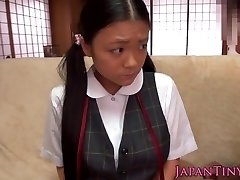 Shy squirting asian teenies globes get cumshot