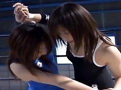 Japanischen Babes Wrestling
