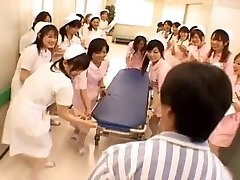 Chinese nurses in a red-hot gangbang