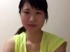 الآسيوية فتاة جامعية الناظور downblouse الثدي
