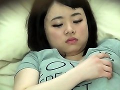 Chubby asian stagged on