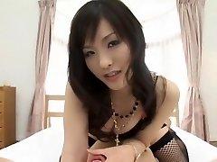Exotische japanische Modell Nao Ayukawa im geilen Doggy Style, Strümpfe JAV movie