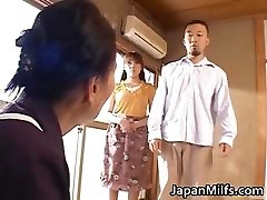 Horny japanese MILFS sucking and poking part4