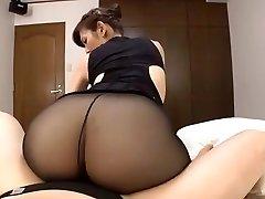 Japonaise mature collants noirs sexe