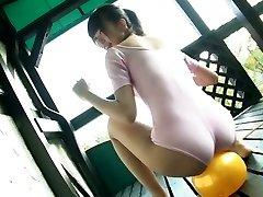 Delightful Japanese kitty Sumire Aihara flashes her cameltoe