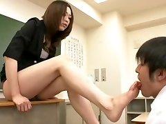 asiatische Füße Anbetung / Fußerotik / nylon Füße Fetisch