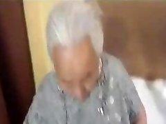 Chubby korian grandma being fucked