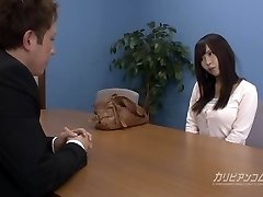 Job interview leads sucking a man sausage