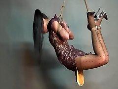 Yaner extreme hogtie-suspend challenge
