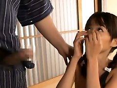 Asuka Hoshino deep throats shlong and balls