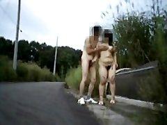 Inexperienced nudist couple