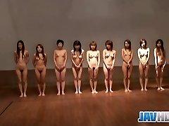 Naked Japanese damsels