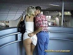 Train fucking with kinky wife