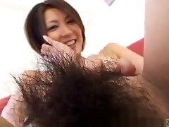Subtitled Asian amateur perfect bush nude body check