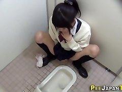 Hairy japanese teen rubs