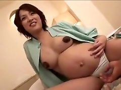 pregnant Japan chick still gets fuck part 2