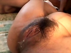 Japanese pregnant chick group-fucked by a bunch of guys