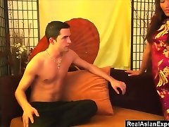 Japanese Seductress Fucks Her White Master