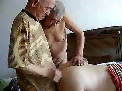 2 grandpas penetrate grandpa