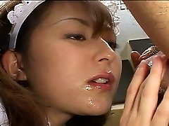 Japanese maid pleases her manager