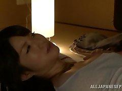 Hot Asian cougar Chizuru Sakura pokes with her neighbor