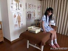 Hot Asian nubile enjoys the art of softcore massage