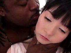 Lil petite nippon plowed hard by BIG BLACK COCK