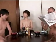Japanese Mummy blackmailed by Step Son Two