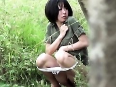 Chinese ho pees outdoors