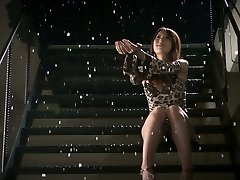 Romantic jap babe Yui Hatano gets two diminutive cocks to suck