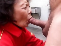 Granny loves sucking trouser snake and swallowing jizm