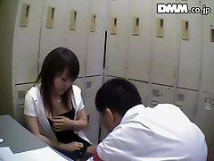 Ugly Japanese stunner sucks dick in spy cam Japanese sex video