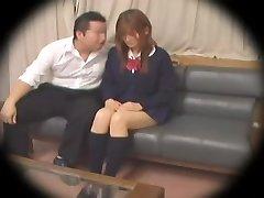 Ugly Jap teen gets boned in spy cam Asian sex vid